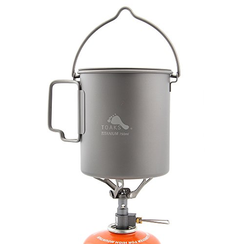 TOAKS 750ml Titanium Pot and Only 25g BRS-3000T Stove Camping