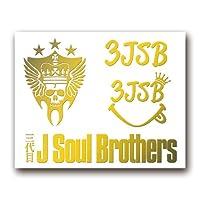 絵柄だけ残る ステッカー S 「3JSB」 金 001G