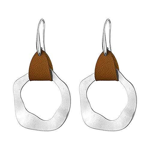 Review GOTDCO. Boho Jewelry Hoop Earrings for Girls/Women with Dangling Pendant, Leather Earring Stu...