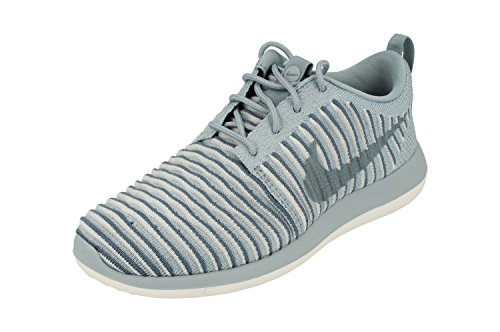 Nike Womens Roshe Two Flyknit Running Trainers 844929 Sneakers Shoes (UK 4 US 6.5 EU 37.5, Blue Grey Ocean Fog 400)