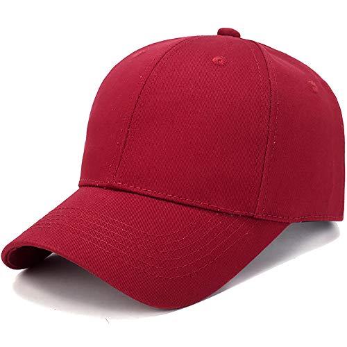 MINXINWY_ Gorras de béisbol de Hombre Verano, Sombrero para el Sol al Aire Libre Gorra Hombre de algodón Color sólido Gorra Casual Cap Adolescente Snapback Sombrero de Hombre Hip-Hop