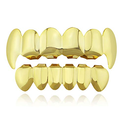 Sunrise-EU Sunrise-EU Unisex HIP POP 1 Set Teeth Grills voor de mond boven Eén maat goud