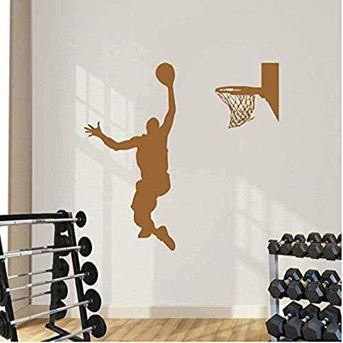 Pegatinas de pared Decoración de pared Pegatinas de bricolaje Decoración del hogar Baloncesto Deportes Niños Art Deco Jugadores activos Decoración de dormitorio 57x69