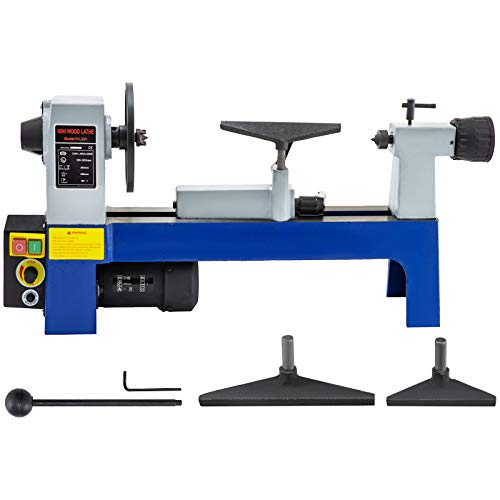 "Mophorn Wood Lathe 8"" x 12"",Benchtop Wood Lathe Variable Speed 500-3200RPM,Mini Wood Lathe for Wood Processing"