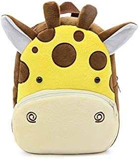 – BAGGEL – Mochila Infantil para Niños y Niñas   Mochila de Felpa de Animales   Modelo Jirafa   Mochilas 3D de Animales   ...