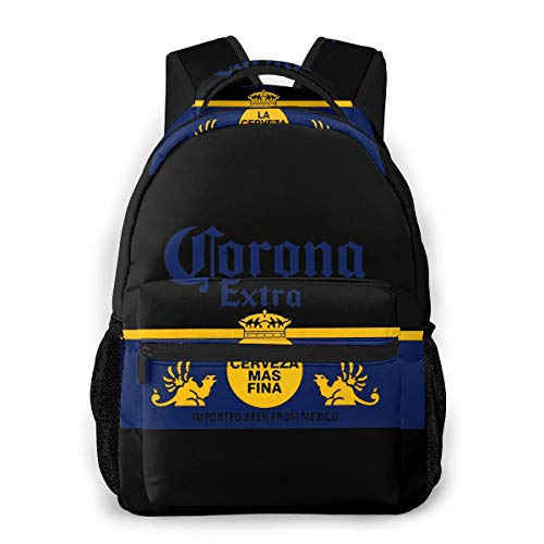 Corona Extra Beer Backpack Water Resistant Lightweight Cloth Casual Unisex