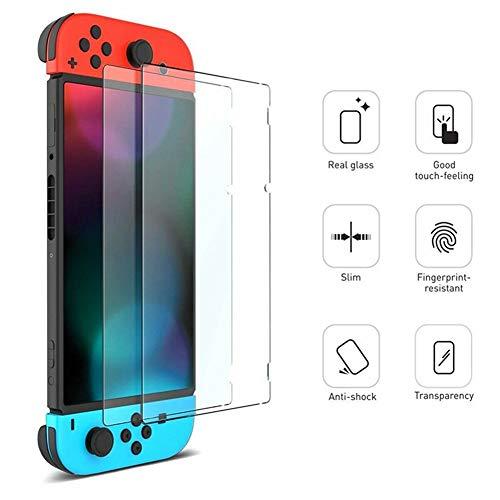 Nintendo Switch Schutzfolie,Teyomi Nintendo Switch Displayschutzfolie, 2er Premium Hartglas Displayschutzfolie für Nintendo Switch