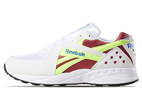 Reebok Unisex-Erwachsene Pyro Laufschuhe, Mehrfarbig (Wht/Meteor Red/Neon Yellow/Crushed Cobal 000), 45 EU