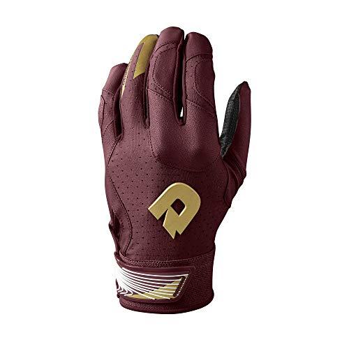 DeMarini CF Batting Gloves, Maroon - X-Large