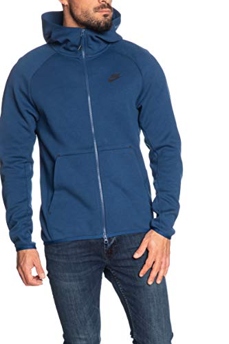 Desconocido Nike Sportswear Tech Fleece - Felpa da Uomo, Uomo, 928483, Blu (Coastal Blue) / Nero, L