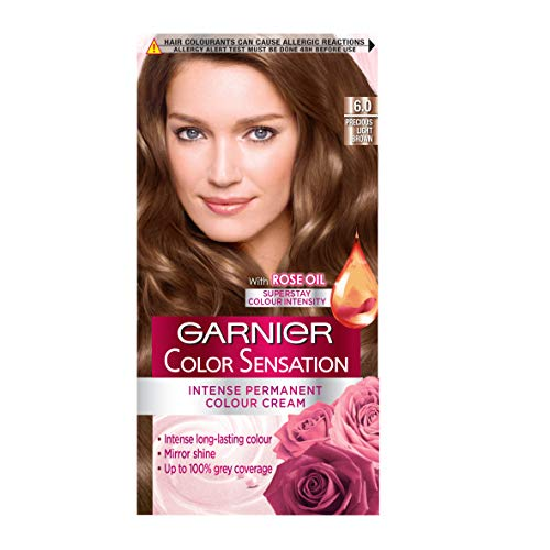 Garnier Color Sensation Brown Hair Dye Permanent 6.0 Precious Light Brow