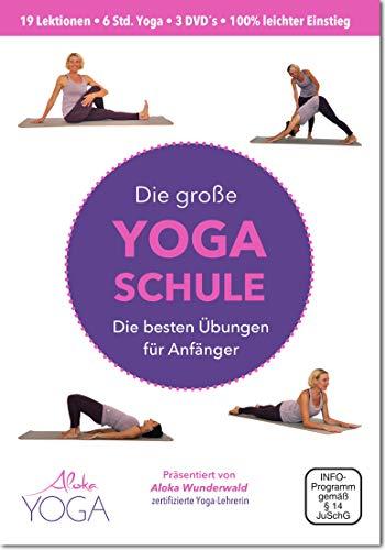 Die Große Yoga Schule DVD - die besten Übungen für Anfänger 3 DVDs | Yoga dvd für Anfänger | Mehr Entspannung, Beweglichkeit und Wohlbefinden.