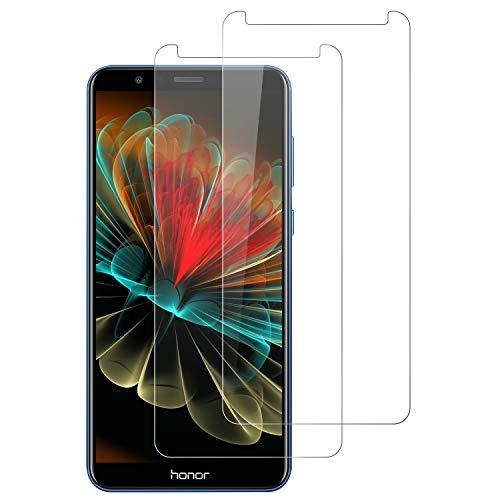 DOSNTO Panzerglasfolie für Huawei Honor 7X [2 Stück], 9H Festigkeit Panzerglas Bildschirmschutzfolie, Bläschenfrei, Anti-Kratzen, Anti-Öl HD Schutzfolie für Huawei Honor 7X