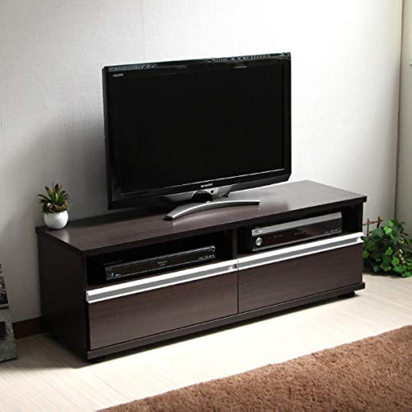 延ばす準備ができてシャワーテレビ台 120cm ロータイプ 50インチ 大型テレビ対応 ダークブラウン JTV-120BR