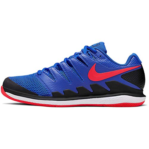 Nike Herren Air Zoom Vapor X Hc Tennisschuhe, Mehrfarbig (Racer Blue/Bright Crimson/Black/White 402), 40.5 EU