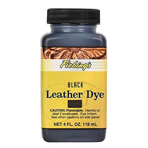 Fiebings Leather Dye Black 4oz