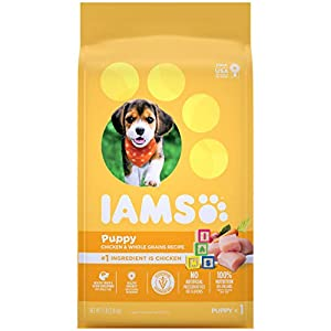 IAMS PROACTIVE HEALTH Smart Puppy Dry Dog Food with Real Chicken, 7 lb. Bag