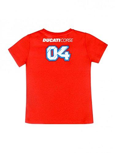 Ducati Corse Team 2018 Andrea Dovizioso #04 Offizielles MotoGP Kinder-T-Shirt für Jungen, Jungen, rot, Kids 6-7 Years 75cm/30 Inch Chest
