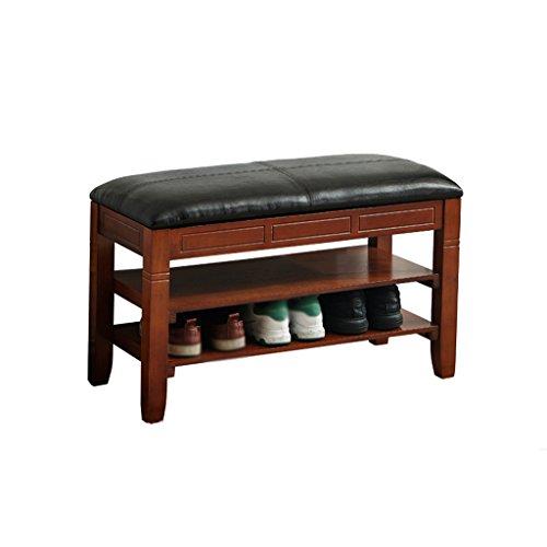 ChangSQ Abra el taburete del almacenaje de la tapa, el banco del zapato del cambio de la capa de madera sólida el banco casero del zapato del banco del zapato del banco del zapato de la PU zapato