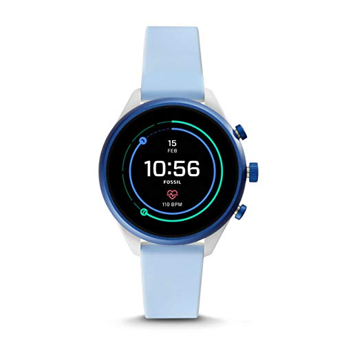 Fossil Dames smartwatch met siliconen armband