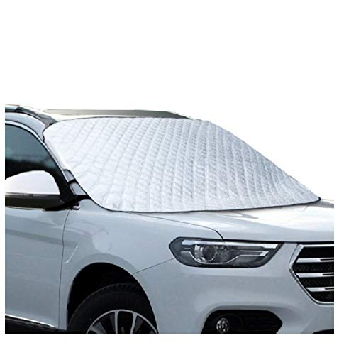 MITALOO Car Windshield Snow Cover with 4 Layers Protection, Frost Ice Removal Sun Shade for Winter Protection, Extra Large and Thick Windshield Ice Cover Fits for Cars Trucks Vans and SUVs