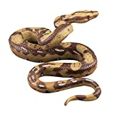Amosfun High Simulation Python Model Toy Big Realistic Snake Halloween Tricky Creepy Prank Scary Snake Toy