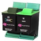 INK INSPIRATION® Remanufacturados para Lexmark 16 & 26 Cartuchos de Tinta compatibles con Lexmark I3 X1100 X1150 X1170 X1180 X1190 X1195 X1200 X1270 X2250 X72 X74 X75 Z25 Z35 Z515 Z605 Z615 Z640