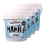 ManiLife Mantequilla de Cacahuete 4kg - Peanut Butter - Natural, de origen único, sin aditivos, sin...