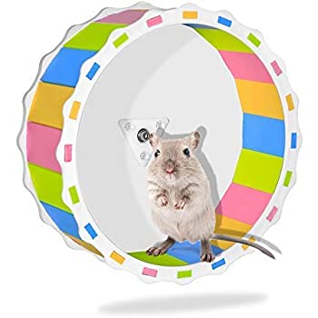 Amazon Com S Homestore Silent Hamster Exercise Wheel 6 7 Quiet Running Wheel For Hamsters Gerbils Mice And Other Small Pets Pet Supplies