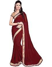 MirchiFashion Bollywood Indiase vrouwen Sari met ongestikt bovenstuk/top party Indians saree kleding