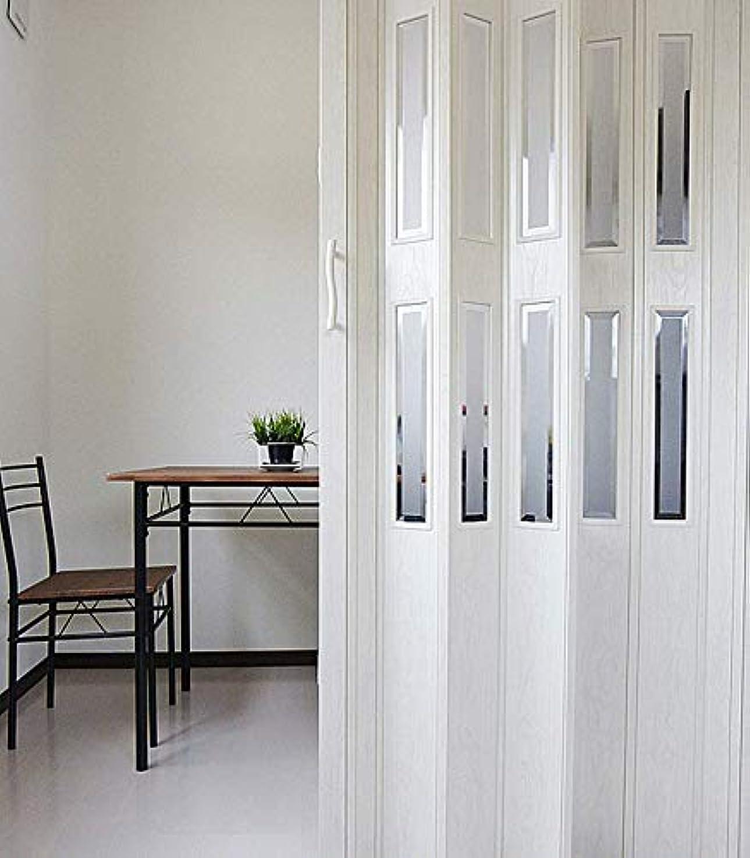 マダム火曜日なかなか窓付パネルドア Lumie ルミエ 幅100cm×高さ176cm 木目アンティークホワイト