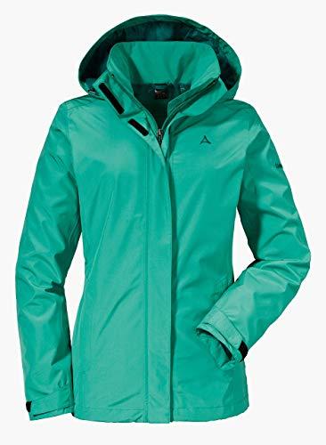 Schöffel Damen Jacket Sevilla2 wind- und wasserdichte Outdoorjacke aus atmungsaktivem Material, leichte Regenjacke für Frauen, Spectra Green, 42