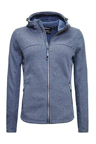 Killtec Damen Fleecejacke Arland WMN Knitfleece Jckt, Farbe:dunkelblau, Größe:48