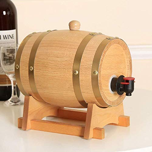WEIJINGRIHUA Jarra de Whisky Personalizada Barril Barril de Roble - Barril de Vino de Madera de Roble for De Vez Cerveza Whisky Habitación Habitación