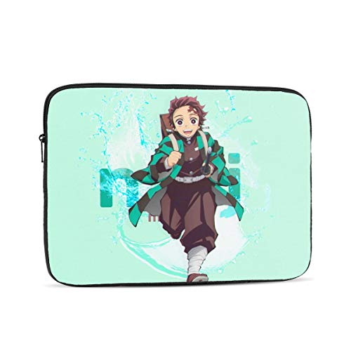 NOVCO Demon Slayer Kamado Tanjirou Cartoon Laptop Sleeve Notebook Computer Bag Pocket Tablet Briefcase Multiple Sizes 17 Inch