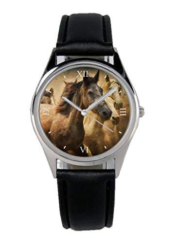 Pferde Geschenk Artikel Idee Fan Uhr B-20539