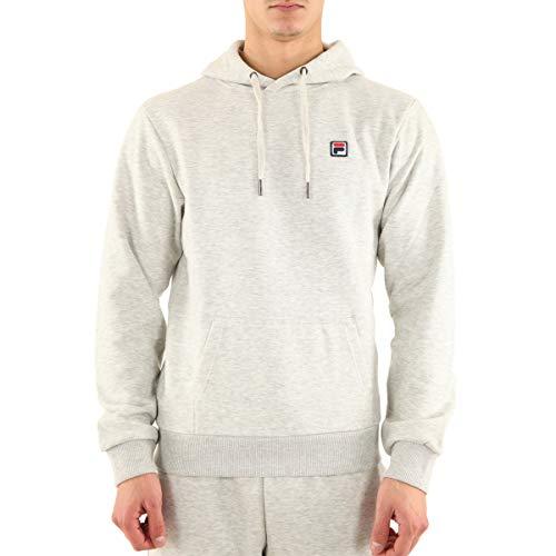 Fila Sweatshirt Victor Herren grau mit Kapuze und Patch Logo 687458B13, Grau XS