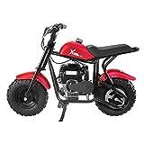 Red 40CC Trail Mini Dirt Bike Gas-Power 4-Stroke Motorcycle Pocket Bike Pit