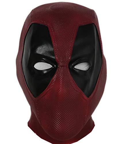 Xcoser Halloween Maske Latex Kopf Gesicht Helm Film DP Cosplay Kostüm Replik für Erwachsene Herren Verkleidung Kleidung Merchandise