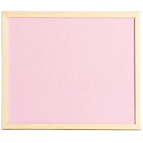 OfficeCentre® Pinnwand aus Kork, farbig, 40 x 30 cm, mit Befestigungen und 20 Reißzwecken rose