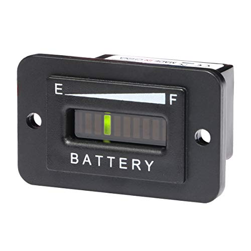 Searon 48 Volt Trojan Battery Indicator Meter Gauge for Yamaha EZGO Golf Cart Which was Equipped Trojan Batteries (48 Volt)