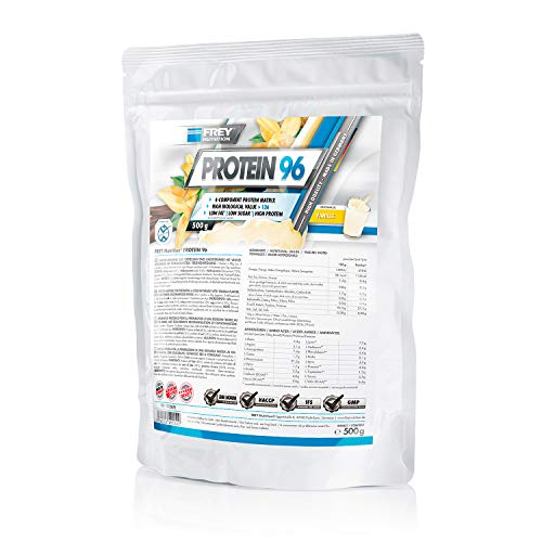 Frey Nutrition Protein 96 Vanille Zipp-Beutel, 1er Pack (1 x 500 g)