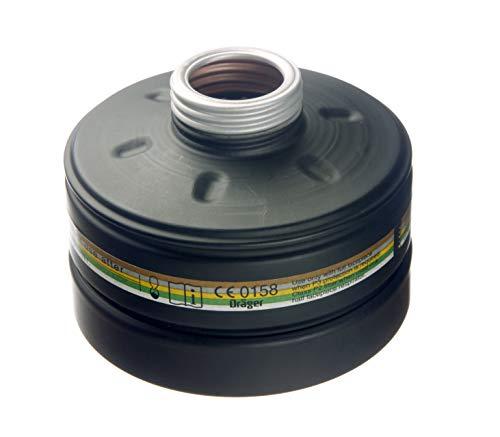 Dräger Rd40 Zivilschutz-Filter der Schutzklasse A2B2E2K2-P3 R D/NBC (Schwarz) für Gase, Dämpfe, Partikel | 1 STK. | Kombinations-Filter für Vollmaske CDR 4500