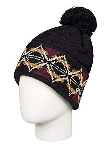 Roxy Damen Mütze Lizzie - Bommelmütze, True Black, 1SZ, ERJHA03554