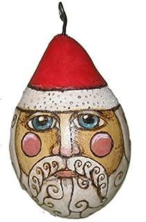 Santa St Nicholas Christmas Ornament Handmade Holiday Lucky Bee Designs
