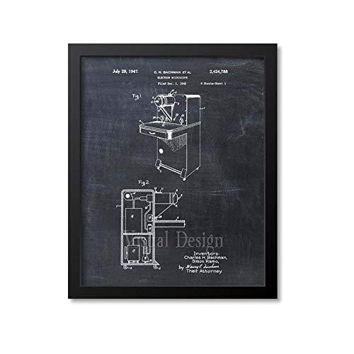 MG Global Electron Microscope Patent Print Microscope Wall Art Print Art