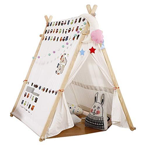 ANQIY Tienda de campaña para juegos de artes, casa de juegos, sala de princesas, castillo de fantasía, triángulo, arquitectura, lona de algodón, portátil para niños (color: C)