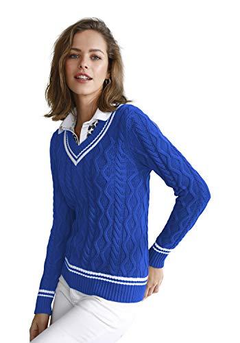 Looxent Damen Pullover im Jungen College-Style mit Streifen