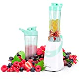 Secura 300W Personal Blender for Shakes and Smoothies | Stainless Blade | 2 (20 oz) Single Serving...