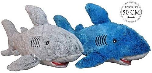 A.K TRADING Lot DE 6 Peluche Requin 50 CM gris ET Bleu